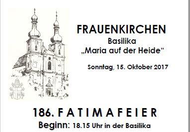 Fatimafeier Oktober 2017 Plakat Ausschnitt