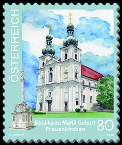 Briefmarke Basilika Frauenkirchen